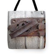 Rusted Latch Tote Bag