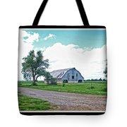 Rustic Barn Scene Tote Bag
