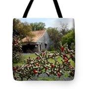 Rustic Cactus Abandoned Barn Tote Bag