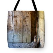 Rustic Door And Broom Tote Bag