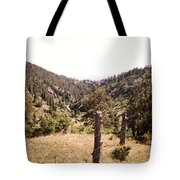 Rustic Fence Tote Bag