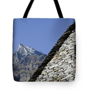 Rustic House And Mountain Tote Bag