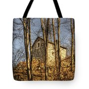 Rustic Stone House Tote Bag