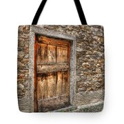 Rustic Stone House With Old Tote Bag