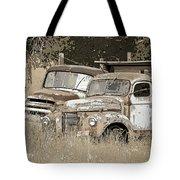 Rustic Trucks Tote Bag