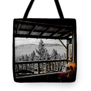 Rustic View Of The Great Outdoors Tote Bag
