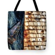 Rusting Boat Anchor Tote Bag