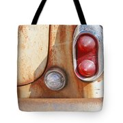 Rusty Abandoned Old Car Tote Bag