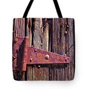 Rusty Barn Door Hinge  Tote Bag by Garry Gay