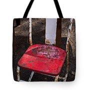 Rusty Metal Chair Tote Bag by Garry Gay