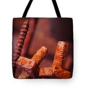Rusty Screws Tote Bag