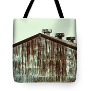 Rusty Tin Factory Building Tote Bag