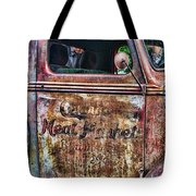 Rusty Truck Door Tote Bag