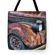 Rusty Truck Hood And Fender Tote Bag
