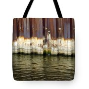 Rusty Wall By The River Tote Bag