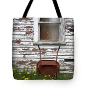 Rusty Wheelbarrow And Wildflowers Tote Bag