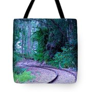 S Curve In The Forest Tote Bag