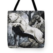 Sabre-toothed Tigers Tote Bag