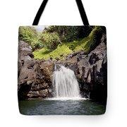 Sacred Pool Waterfall Tote Bag