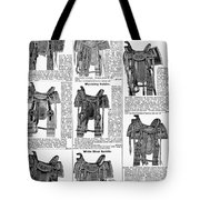 Saddles, 1895 Tote Bag