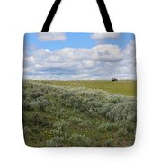 Sagebrush And Buffalo Tote Bag