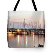 Sail Boat On The River Tote Bag