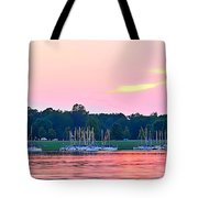 Sail Boats Pretty In Pink  Tote Bag