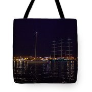 Sailboat And Maltese Hawk Tote Bag