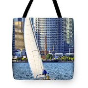 Sailboat In Toronto Harbor Tote Bag