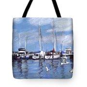 Sailboats And Seagulls Tote Bag