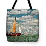 Sailboats In The Netherlands By The Zuiderzee Tote Bag