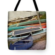 Sailboats Tote Bag by Methune Hively
