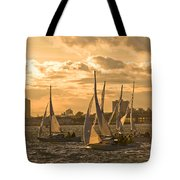 Sailboats On Lake Ontario At Sunset Tote Bag