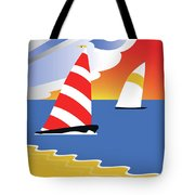 Sailing Before The Wind Tote Bag