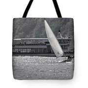 Sailing Boat And Passenger Boat Tote Bag