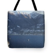 Sailing Boat On A Lake Tote Bag