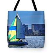 Sailing On Boston Harbor Tote Bag