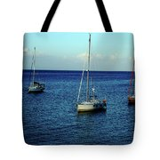 Sailing The Blue Waters Of Greece Tote Bag
