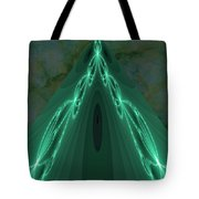 Sailing The Electric Green Sea Tote Bag