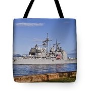 Sailors Aboard The Guided-missile Tote Bag