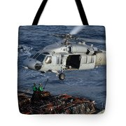 Sailors Attach Pallets Of Supplies Tote Bag