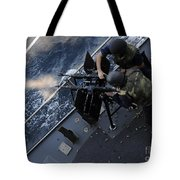 Sailors Fire A Dual-mounted M240 Tote Bag