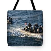 Sailors Participate In A Visit, Board Tote Bag