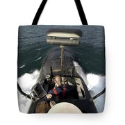 Sailors Stand Watch From The Bridge Tote Bag