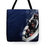 Sailors Stand Watch On A Rigid-hull Tote Bag