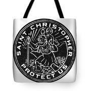 Saint Christopher Medal Tote Bag