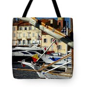 Saint Tropez Harbor Tote Bag