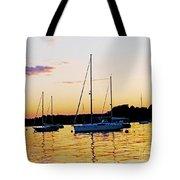 Salem Harbor Amber Sunset Tote Bag