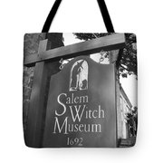 Salem Witch Museum Tote Bag