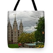 Salt Lake City Temple Grounds Tote Bag